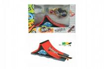 Skateboard prstový skrutkovacie s rampou plast