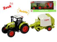 Traktor s vlečkou 38 cm 1:16 na zotrvačník na batérie so svetlom a zvukom - mix variantov či farieb