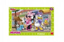 Puzzle doskové Minnie na Montmartri 15 dielikov 29x19cm