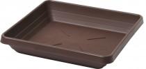 Plastia miska štvorhranná Lotos - čokoládová 25x25