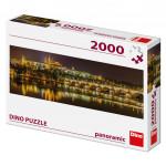 Puzzle 2000 dielikov: Karlov most v noci panoramic