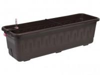 Truhlík samozavlažovací FANTÁZIA SMART plast hnedý 40cm