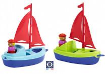 Plachetnice 22,5 cm s námořníkem - mix variant či barev