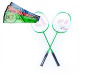 Sada badminton + 3 košíčky kov 66cm v tašce - mix barev