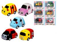 Auto veselé kov 5,5-6,5 cm spätný chod - mix variantov či farieb