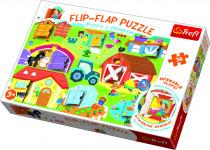 Puzzle 36 dielikov Flip-flap Na farme