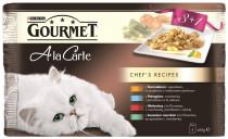 Gourmet A la Carte cat kaps.- Multip.kuře, hovädzie 4 x 85 g (3 + 1ZADARMO)