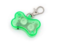 Svietiace LED prívesok na obojok zelený, Domestic