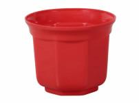 Obal na kvetináč SANTOS plastový červený d8cm