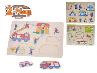 Vkladačka drevená 2-Play 30x22,5 cm záchranné zložky - mix variantov či farieb
