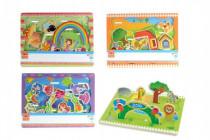 Skládanka vkládačka Zoo a farma dřevo 30x23cm 24m+ - mix variant či barev