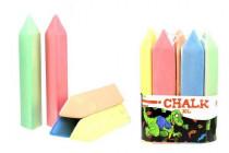 Křídy chodníkové maxi trojúhelník 5ks barevné 20cm