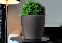 Samozavlažovací květináč GreenSun AQUAS průměr 22 cm, výška 21 cm, tmavě stříbrný