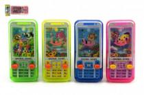 Vodní hra telefon hlavolam mobil plast 11cm - mix barev