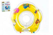 Plavací nákrčník Flipper/Kruh žlutý v krabici 17x20cm