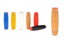 Fidget Tumbler drevo 9cm antistresový valček - mix farieb