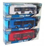 Mac Toys 1:48 Autobus mestský - mix variantov či farieb - VÝPREDAJ