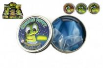 Hmota / plastelína 50g inteligentný svietiace v tme 8cm mix farieb v plechovej krabičke - mix variantov či farieb