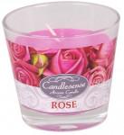 Sviečka sklo - aróma ruže 160 g - 4 ks