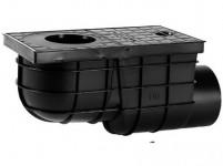 lapač strešných vôd bočné DN 110mm plastový, ČER