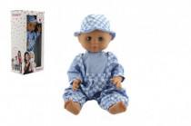 Bábika / Bábätko Hamiro 40cm, pevné telo sv. modré nohavice + košeľa + klobúčik