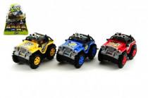 Auto terenní obracející se plast 11cm na baterie - mix variant či barev