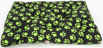 Matrace bavl. Memory Tlapa černo/zelená 125 x 100 x 10 cm