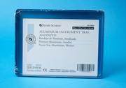 Tác sterilizační, spodní díl, neděrovaný,modrý 14x18cm