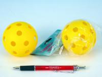 Floorball lopta plast priemer 7cm - mix farieb