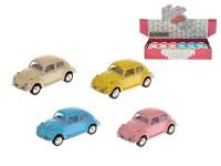 Auto Kinsmart VW Classical Beetle 1967 1:64 kov 6cm zpětný chod - mix barev