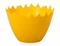 Obal na kvetináč škrupinu plastový žltý d9x7cm