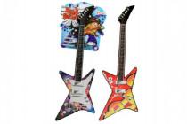Kytara mini elektrická plast 42cm na baterie se zvukem - mix barev