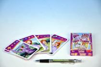 Kvarteto Princezna Sofia společenská hra - karty v papírové krabičce 6x10cm