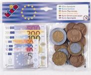 Euro bankovky a mince Klein
