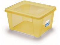 box úložný SCATOLA 2l, 19x16x10cm s vekom plastový, ŽL, Ruz