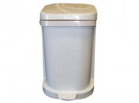 kôš odpadkový nášľapný 25l štvorcový s vložkou, plastový, bi