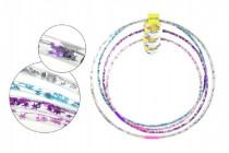 Hula Hop obruč plast priemer 65 - 85cm na batérie so svetlom a veľkosti - mix farieb