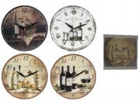 hodiny nástenné pr.28cm driev. - mix variantov či farieb