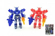 Robot bojovník plast 15cm s doplňky - mix barev