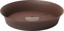 Plastia miska Tulipán - čokoládová 20 cm