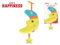 Nechtík plyšový 20 cm s hracím strojčekom na natiahnutie Baby's Happiness na karte