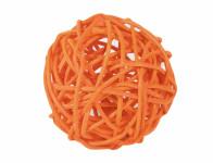 Koule aranžovací ratanová oranžová 6cm
