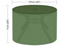 plachta krycia na okrúhly záhradný stôl pr.107x71cm, PE 90g / m2