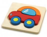 Puzzle auto drevené