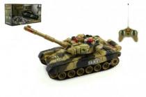 Tank RC T-80 plast 25cm s dobíjacím packom + adaptér na batérie - mix variantov či farieb