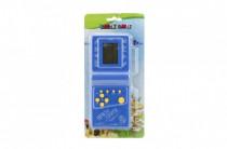 Digitální hra Brick Game Tetris hlavolam plast 18cm na baterie - mix barev