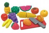 Krájací ovocie a zelenina s riadom plast