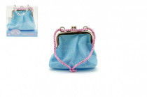 Dívčí peněženka/kabelka s třpytkami 10x9cm - mix barev