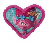 Polštářek Troll Queen Poppy te tvaru srdce
