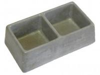 miska dvoumiska štvorca 245x135x75mm betón (86)